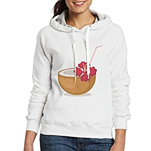 Ubaizha Coconut Drinks Women's Hoodie L White