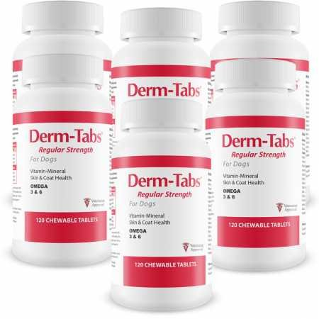(6PACK DermTabs Regular Strength for Dogs (720 Chewable Tablets))