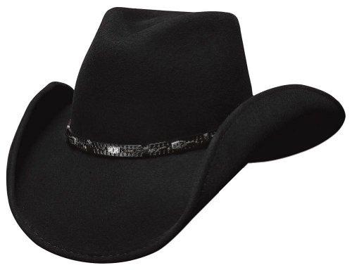 (Montecarlo Bullhide Hats - WILD HORSE - Wool Felt Western Cowboy Hat - Black)