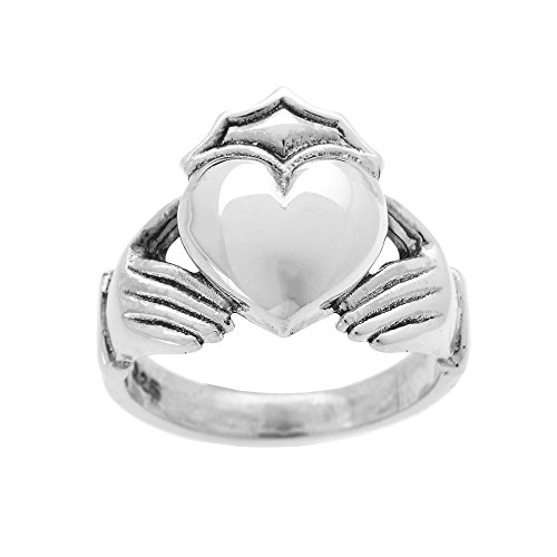 Sterling Silver Bold Large Men's Claddagh Ring(Size 13) (Large Claddagh Ring)