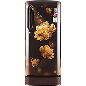 LG 190 L 4 Star with Inverter Single Door Refrigerator (GL-D201AHCY, Hazel Charm, Base stand with drawer)