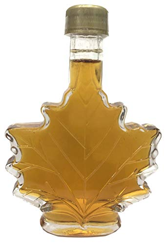 Nova Maple Syrup - Pure Grade-A Maple Syrup (3.4Oz Glass Leaf 100Ml)