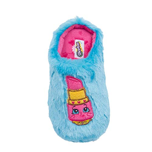 Shopkins Girls' Slippers - Turquoise, 2/3 Youth