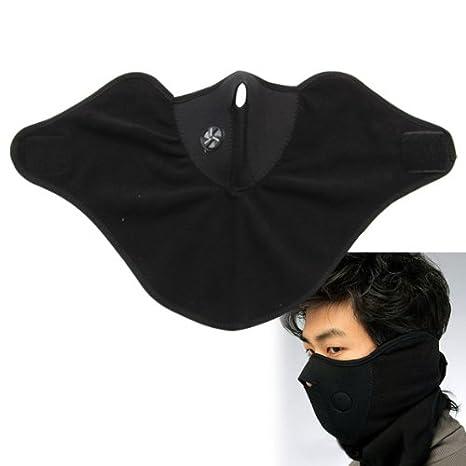 Soulitem- Máscara de Neopreno para el Cuello, Color Negro