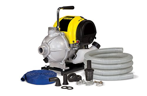 Champion 1-Inch Gas-Powered Water Transfer Pump with Hose Kit Engine Gas Power Water Pump