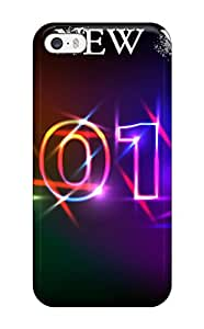 Iphone 5/5s Happy New Year Print High Quality Tpu Gel Frame Case Cover