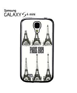 Paris Eiffel Tower 1889 Retro Mobile Cell Phone Case Samsung Galaxy S4 Mini White
