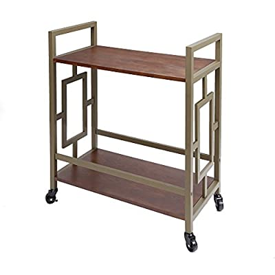 "Silverwood FS1195-HG-COM Emerson 2-Tier Bar Cart 2, 14.5"" L x 28"" W x 32.25"" H"
