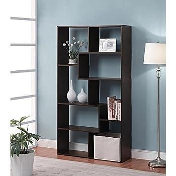 Amazon.com: Home 8 Shelf Espresso Narrow Corner Bookcase: Kitchen .