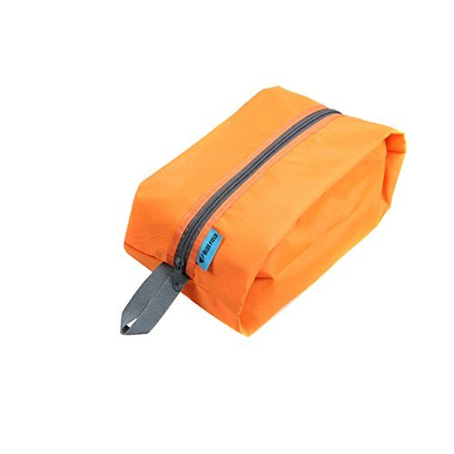 Price comparison product image RavTech(TM) Waterproof Portable Multi Functional Organizer Travel Wash Handbag Purse Insert with Pockets Storage Makeup Cosmetic Bag Cases, Orange