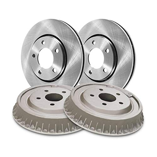 AutoDN Front and Rear Brake Rotors and Brake Drums 4PCS For Dodge Colt 1979