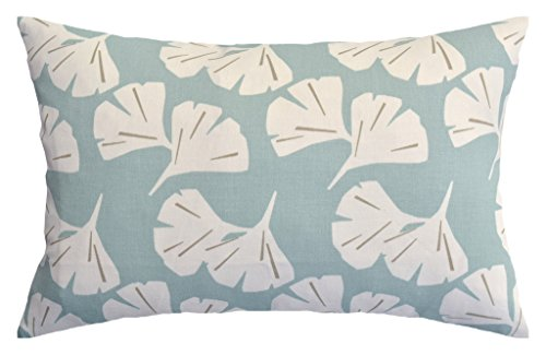 JinStyles Ginkgo Leaves Cotton Canvas Lumbar Decorative Thro
