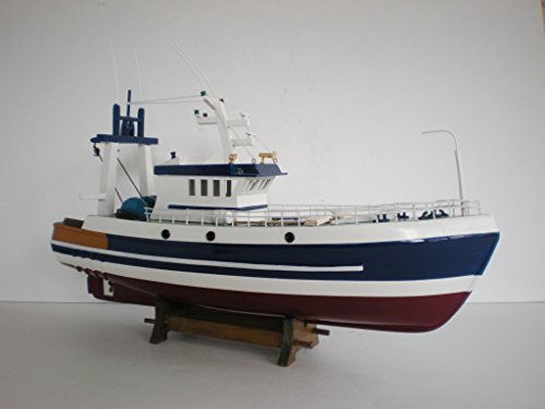 """Custom 18"""" Fishing Boat Wooden Vessel Ship Handcrafted Mo..."""