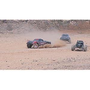 Tecesy 25+MPH Off-Road Rock Crawler Electric 2.4G Radio Control RC Desert Buggy 4WD Short Course Truck (Blue)