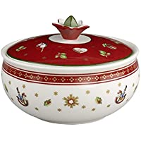 Villeroy & Boch Toy's Delight Sucrier, Porcelaine Premium, Blanc/Rouge