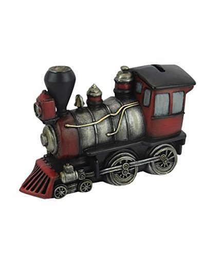 Red & Silver Train Money Coin Bank - - Train Bank Kids