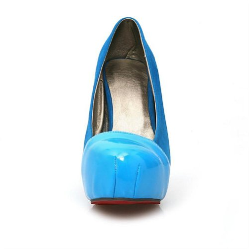 Womens Blue Jane Stiletto Mary Pump Classic High Charm Heel Foot Platform Basic Bq77P5