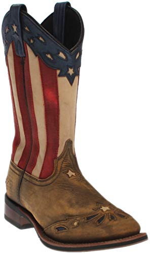 Laredo Women's Freedom Cowgirl Boot Square Toe Wheat 8.5 M US - Tall Boot Freedom