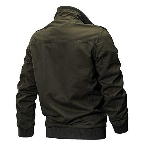 hiver Casual Grande Verte Militaire Outwear Taille Mode Veste Blouson Workwear Homme Armée Jacket Coton PEq8wOwIgn