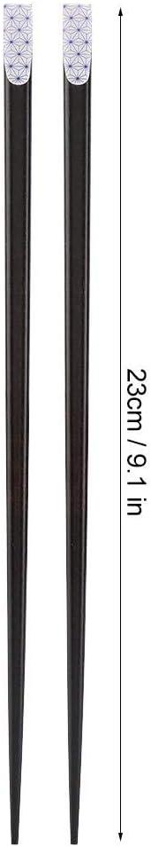 Blau BiuZi 1 Paar nat/ürliche sichere und ungiftige Holzst/äbchen Wiederverwendbare haltbare Sakura Pattern Pattern St/äbchen im japanischen Stil Essst/äbchen