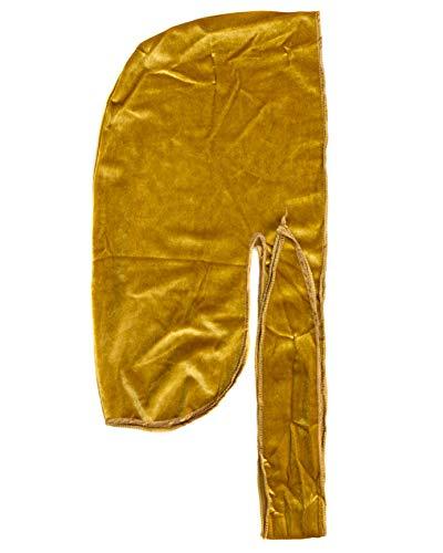 Velvet Du-RAG -Premium Quality- Wave Cap-Durag (Gold)