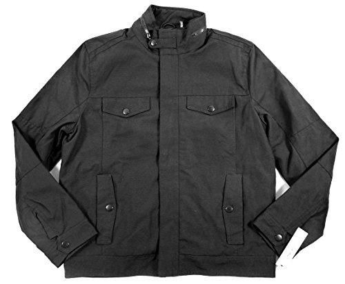 - Kenneth Cole  Men's Military Bomber Fabric Jacket Zip Coat (Medium, Black)