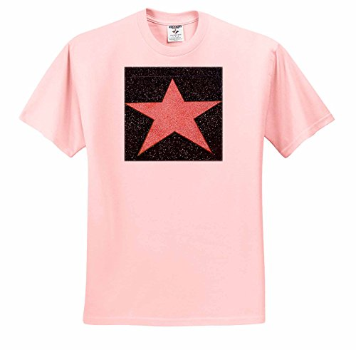 Danita Delimont - California - Los Angeles, Hollywood, blank star on Hollywood Walk of Fame - T-Shirts - Adult Light-Pink-T-Shirt XL -