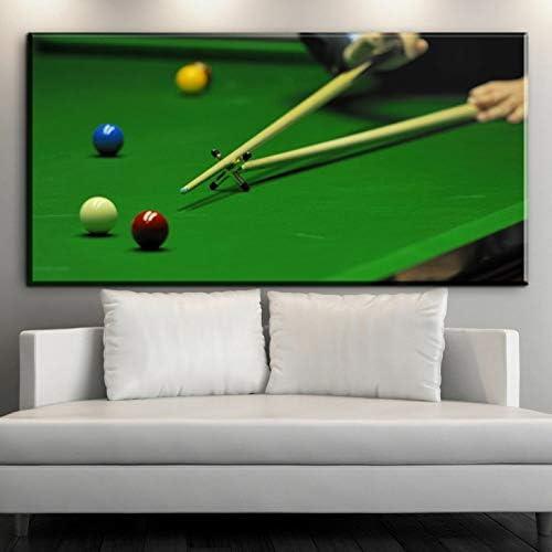 alicefen Arte Moderno de la Pared Billar Americano Snooker Lienzo ...