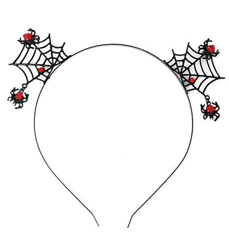 (NLCAC Halloween Spider Cobwebs Headband Halloween Decorations Hair Hoop Cosplay Headdress Devil)