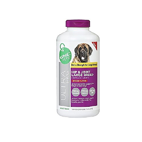 120 TABS Bacon Flavor GNC Ultra Mega Hip & Joint Large Breed, Extra Strength for Large Breeds! (Bacon)