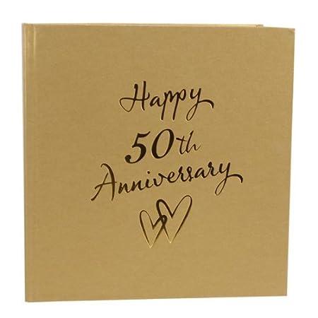 50th Golden Wedding Anniversary Photo Album Perfect Golden Wedding