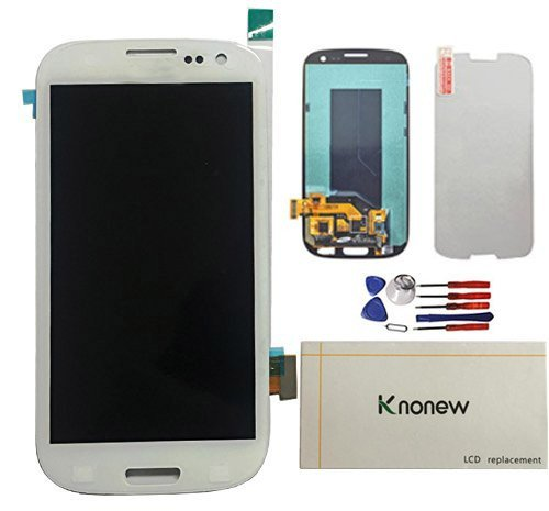 KNONEW Commonly For Samsung Galaxy S3 i9300 i9305 i535 T999 i747 Full LCD Display+Touch Screen Digitizer Assembly Replacement Tools (White) (Resolution: 1280x720)