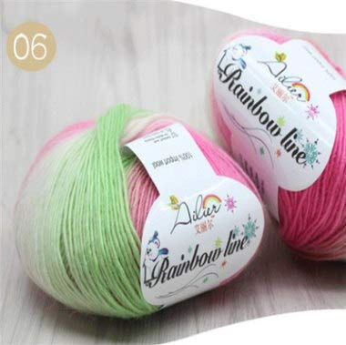 - Diy Craft Supplies - 1 Ball Color 50g Diy Hand Woven Rainbow Crochet Wool Spinning Yarn Knitting Creative Handmade - Adults Craft Supplies Kids Craft Supplies Nylon Yarn Milk Fiber Spaghetti Ba