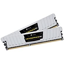 Corsair 8 GB Vengeance Low Profile PC3-12800 1600Mhz 240-Pin Dual Channel DDR3 Memory Kit CML8GX3M2A1600C9W (White)
