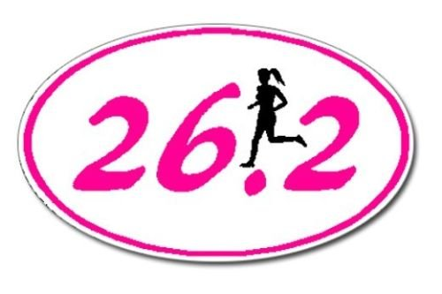 Marathon Oval 26.2 Runner (Edwin Group of Companies 26.2 Marathon GIRL Runner Euro Oval Car Decal/Sticker buy)