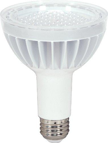 Satco S8971 14 Watt (75 Watt) 860 Lumens PAR30 Long Neck LED Soft White 2700K 60 Beam KolourOne Light Bulb, Dimmable