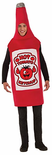 Ketchup Bottle Costume (Forum Men's Ketchup Costume, Multi/Color, One Size)