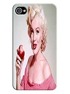 unique pattern snap-on case tpu phone cover for iphone4(Marilyn Monroe) by Kathleen Kaparski