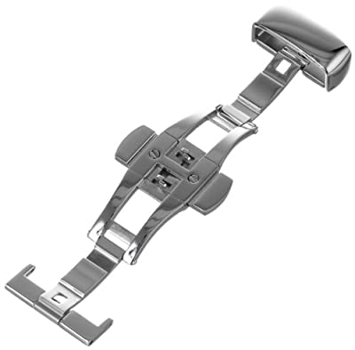 Hadley-Roma Men's BKL100W-14MM Stainless Steel Deployant Buckle SS Watchband from Hadley-Roma