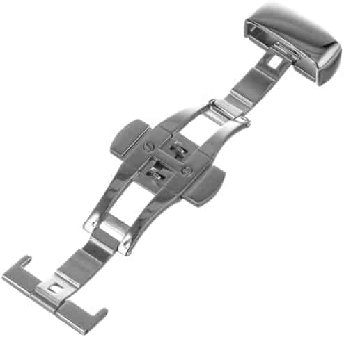 Hadley-Roma 18-mm Stainless Steel Push Button Deployant Clasp