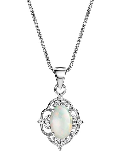 Opal Vintage Earrings - Opal Pendant Necklace Vintage Sterling Silver October Birthstone Gemstone Fine Jewelry for Women