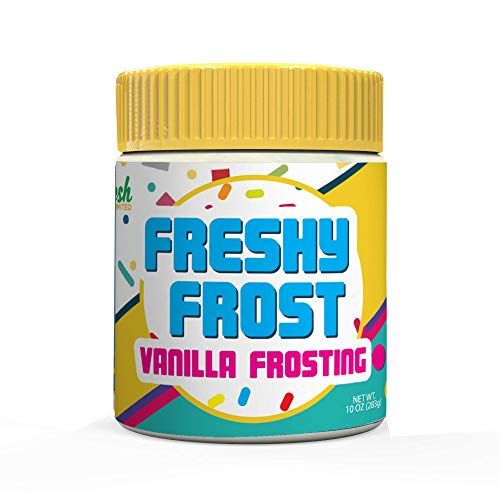 (Freshy Frost Vanilla Flavored Nut Butter Frosting | All Natural, Gluten-Free| 10oz. )