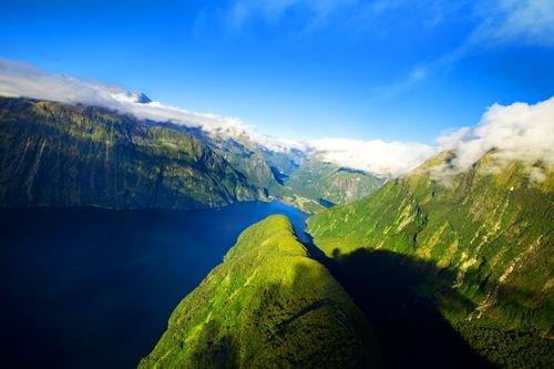 green mountains blue lakes