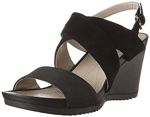 Geox Women's D New Rorie a Wedge Heels Sandals Black (Blackc9999) dmB30cglr