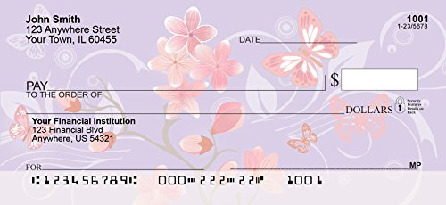 Cherry Blossoms Personal Checks (2 Boxes Singles)