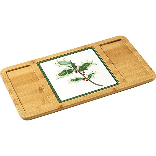 Precious Moments Celebrations Set/2 Christmas Bamboo Cheese Cutting Board (Gifts Hostess For Christmas)