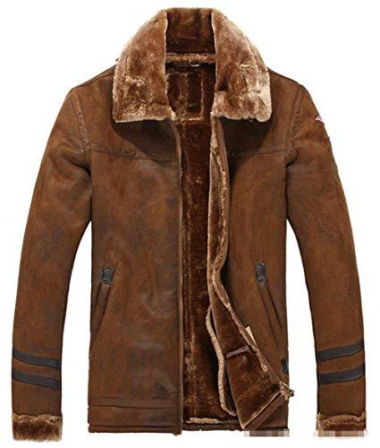 In Inverno Scamosciata Caldo Huixin Pelliccia Giacca Braun Rivestimento Motociclista Nel Maschile Lambswool Bomber Abbigliamento Pelle Epoca Spesso qrxwnCrE