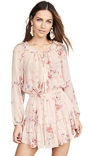 LOVESHACKFANCY Women's Popover Dress, Duchess, Pink, Floral, Small