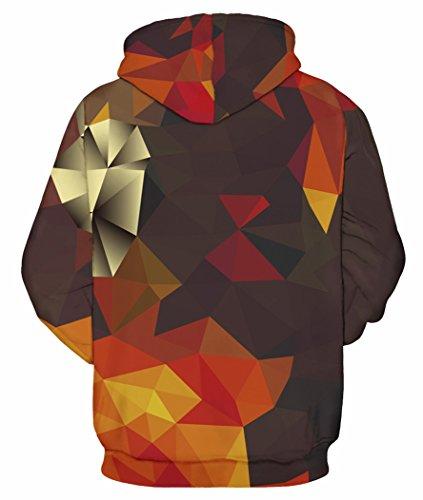 Pretty321 Women Girl 3D Pattern Print Fleece Zipper Hoodie Sweatshirt Collection 3D Cubes Full Print