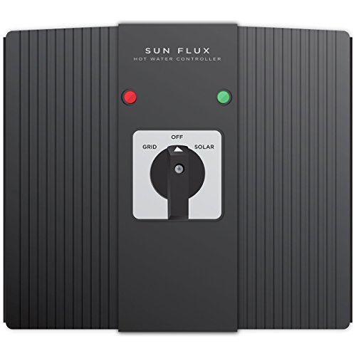 Solar Hot Water Controller - Sun Flux By SEI (New For 2017) | Solar panels + Sun FLux + Electric Water Heater Tank, Make FREE Hot Water By Harnessing Energy From The Sun. Inc. Off/On Grid Flux Switch (Solar Hot Water Heater Controller)